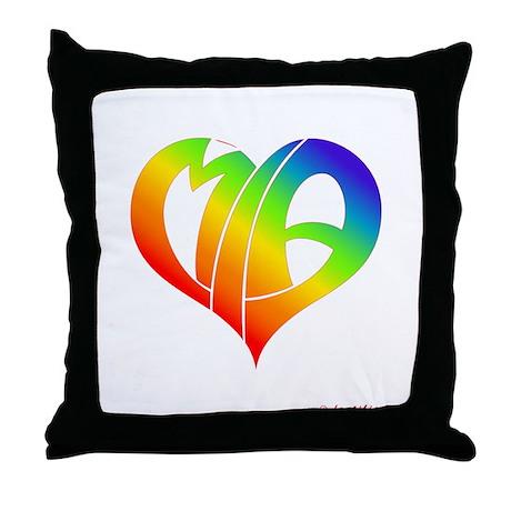 MIa (Rainbow Heart) Throw Pillow