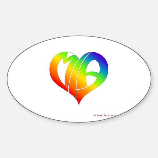 MIa (Rainbow Heart) Oval Decal