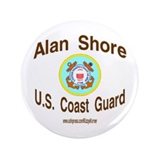 "ALAN COAST GUARD 3.5"" Button"