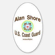 ALAN COAST GUARD Oval Bumper Stickers