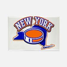 New York Hockey Rectangle Magnet
