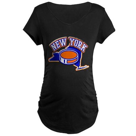 New York Hockey Maternity Dark T-Shirt