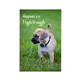 Pug magnets Single
