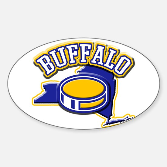 Buffalo Hockey Oval Decal