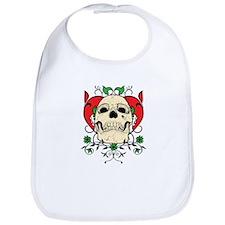 Skull and Heart Bib
