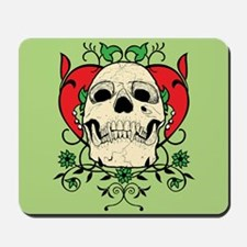 Skull and Heart Mousepad