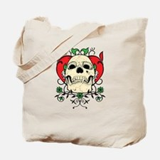 Skull and Heart Tote Bag