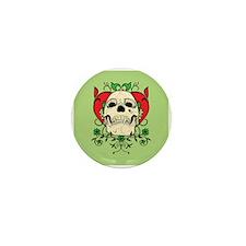 Skull and Heart Mini Button