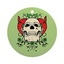 Skull and Heart Ornament (Round)