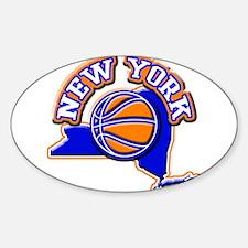 New York Basketball Oval Decal