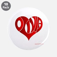 """Olivia (Red Heart) 3.5"""" Button (10 pack)"""