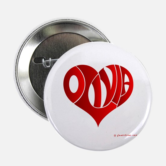 "Olivia (Red Heart) 2.25"" Button"