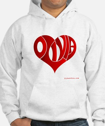 Olivia (Red Heart) Jumper Hoody