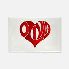 Olivia (Red Heart) Rectangle Magnet