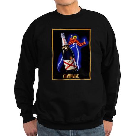 Vintage Champagne Wine Poster Sweatshirt (dark)