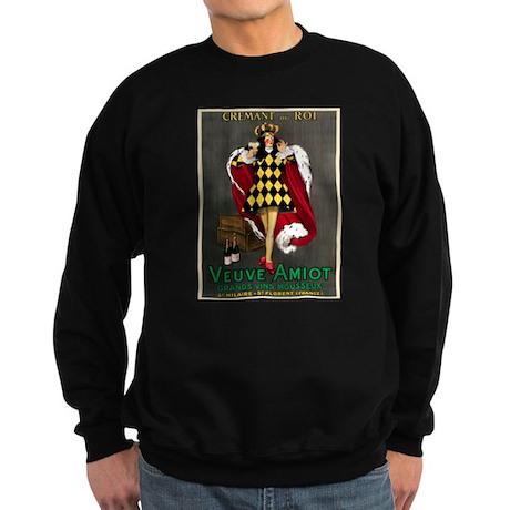 Vintage French Wine Poster Sweatshirt (dark)