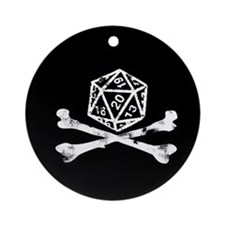 D20 and crossbones Ornament (Round)