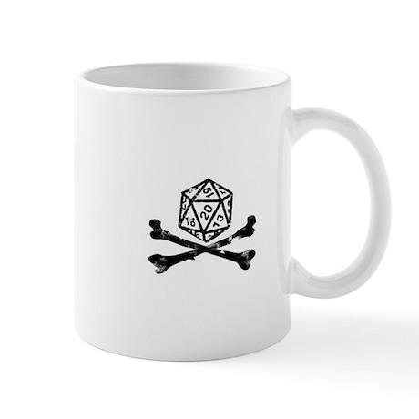 D20 and crossbones Mug