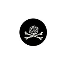 D20 and crossbones Mini Button (10 pack)