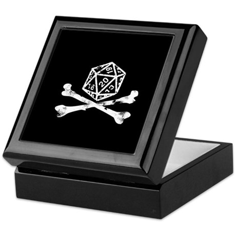 D20 and crossbones Keepsake Box