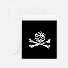 D20 and crossbones Greeting Card