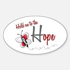 Hold On To Hope 1 Butterfly 2 PEARL/WHITE Bumper Stickers