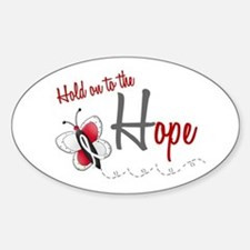 Hold On To Hope 1 Butterfly 2 PEARL/WHITE Decal
