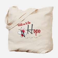 Hold On To Hope 1 Butterfly 2 PEARL/WHITE Tote Bag