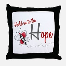 Hold On To Hope 1 Butterfly 2 PEARL/WHITE Throw Pi