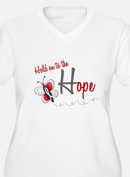 Hold On To Hope 1 Butterfly 2 PEARL/WHITE T-Shirt