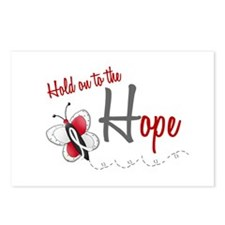 Hold On To Hope 1 Butterfly 2 PEARL/WHITE Postcard
