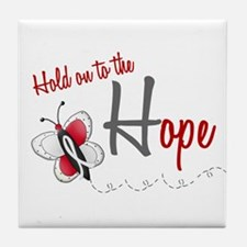 Hold On To Hope 1 Butterfly 2 PEARL/WHITE Tile Coa