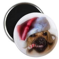 A Puggle Christmas Magnet