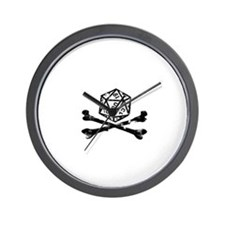 D20 and crossbones Wall Clock