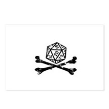 D20 and crossbones Postcards (Package of 8)