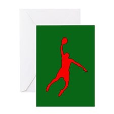 Christmas Slam Dunk Greeting Card