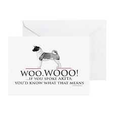 oddFrogg Akita Greeting Cards (Pk of 10)
