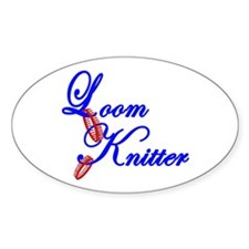 Loom Knitter Oval Decal