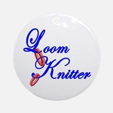 Loom Knitter Ornament (Round)