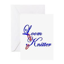 Loom Knitter Greeting Card