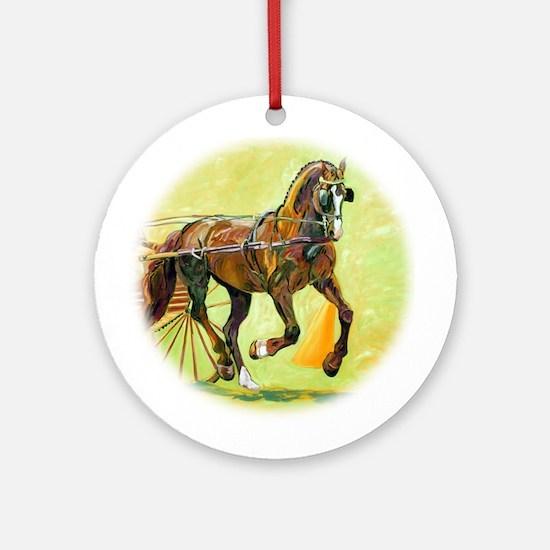 Morgan Pony stallion - Ornament (Round)