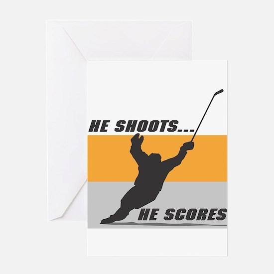 He Shoots...He Scores! Greeting Card