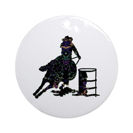 Floral Barrels Ornament (Round)
