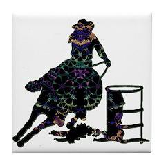 Floral Barrels Tile Coaster