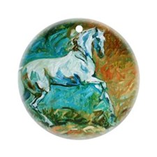 The Classic Horse, II - Ornament (Round)