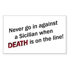 Against a Sicilian Rectangle Decal