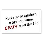 Against a Sicilian Rectangle Sticker