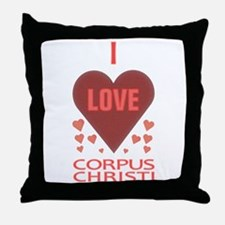 I Love Corpus Christi Throw Pillow