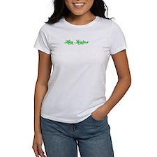 Green on White Krishna-T