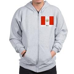 Peru Peruvian Flag Zip Hoodie